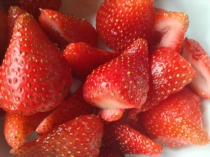 strawberries close